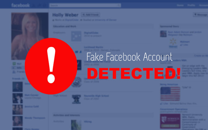 Who in your friends his Facebook account is fake?